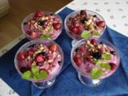 Walnusskaramel mit gemischten Beeren - Rezept