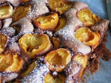 Schoko-Marillenkuchen - Rezept