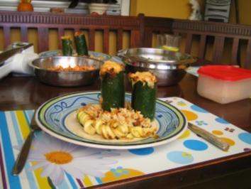 Zucchini-Türme - Rezept