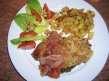 Holzfällersteak mit Bratkartoffeln (defitig, kräftig, einfach lecker) so wie wir es mögen - Rezept