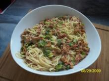 Spaghetti in einer Pfifferlingssoße - Rezept