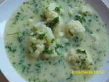 Suppe:  Blumenkohlsuppe - Rezept