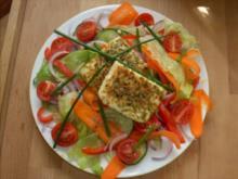 Hirtensalat mit gegrilltem Schafskäse - Rezept
