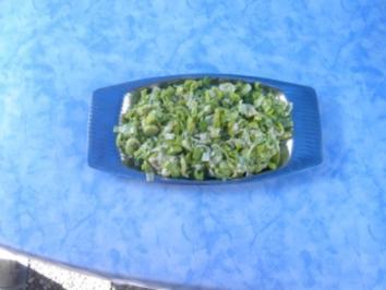 Lauch - Parmesan - Salat - Rezept