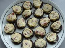 Goudaröllchen auf Brottalern - Rezept