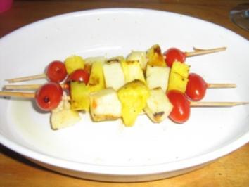 Rezept: Käse - Ananas - Spieße