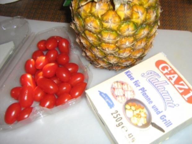 Käse - Ananas - Spieße - Rezept - Bild Nr. 2