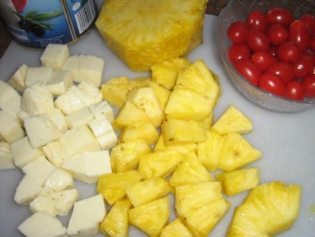 Käse - Ananas - Spieße - Rezept - Bild Nr. 3