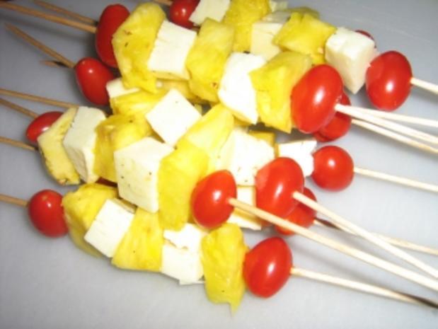 Käse - Ananas - Spieße - Rezept - Bild Nr. 4