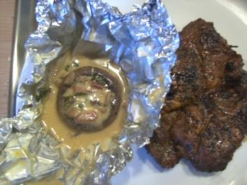 Grillen: Gefüllte Champignon vom Grill - Rezept