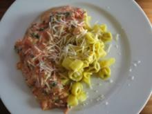 Pasta mit Tomaten-Sahne-Sauce - Rezept