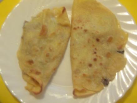 Pfannkuchen mit Pilz-Käse-Füllung - Rezept