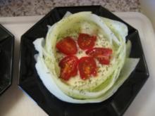 bamberger hörnchen mit dip,fleisch und salat - Rezept