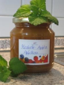 Mirabellen-Apfel Marmelade mit Apfelkorn - Rezept