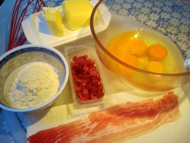 Eier-Pfannkuchen mit Schinkenspeck - Rezept - Bild Nr. 2