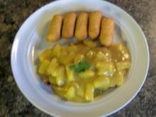 Putensteak mit Ananas in Sherry-Curry-Soße - Rezept