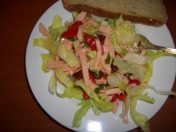 Rezept: Feuriger Fleischwurst-Salat
