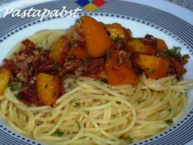 Spaghetti mit Bacon - Nektarinensauce - Rezept - Bild Nr. 3