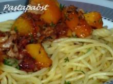 Spaghetti mit Bacon - Nektarinensauce - Rezept