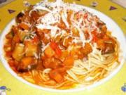 Spaghetti mit Gemüsebolognese - Rezept