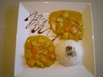 fruchtiges Kürbis Curry mit Pute - Rezept