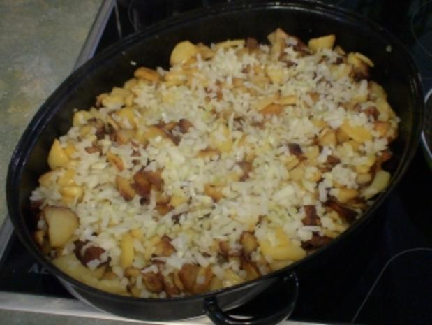 """Teufelchens Bratkartoffeln mit """"Schweinschnäuzchen"""" - Rezept - Bild Nr. 4"""