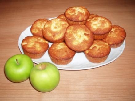 Apfel-Marzipan-Muffins - Rezept