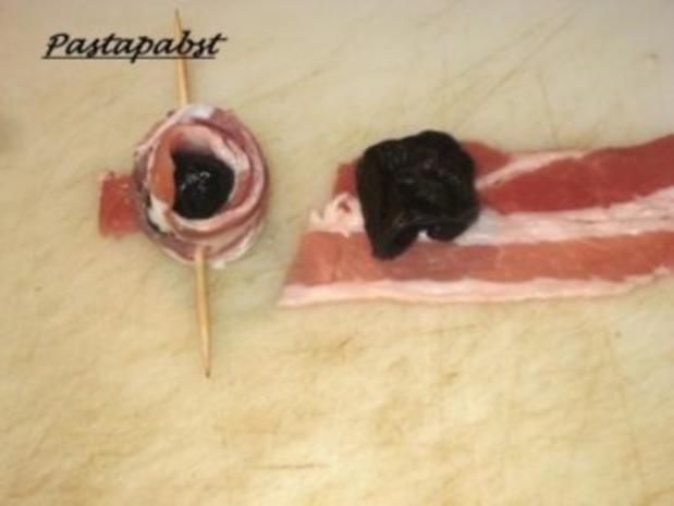 Antipasti - Pflaumen im Speckmantel - Rezept - Bild Nr. 2