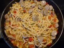 Pfannengericht - Bratwurst-Spätzle-Gemüse-Pfanne - Rezept