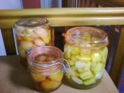 Pfirsiche und Birnen eingekocht - Rezept