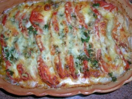 Putenbrust - Tomaten - Mozzarella-Auflauf  (italienische Küche) - Rezept