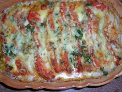 Putenbrust - Tomaten - Mozzarella-Auflauf (italienische Küche)