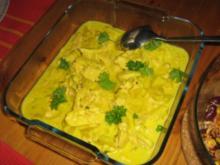 Curry-Geschnetzeltes-Hawaii - Rezept