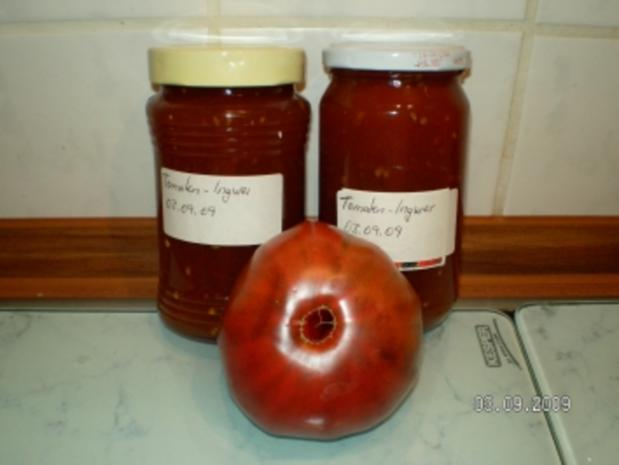 Tomatenmarmelade mit Ingwer - Rezept