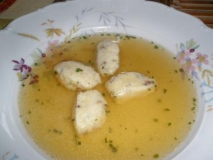 Suppe - Speck - Grießnockerl - Rezept