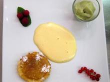 Dreierlei vom Apfel – Calvadosschaum, Apfelsorbet und Apfeltarte - Rezept