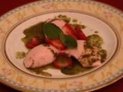 Erdbeer-Mousse mit Pfefferminzpesto (Maite Kelly) - Rezept