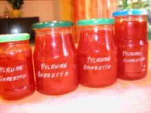 Pflaumenkonfitüre mit Amaretto - Rezept