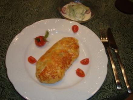Hauptgericht - Fisch - Rotbarsch umhüllt und mit Käse überbacken - Rezept