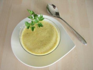 Gelbe Paprikarahmsuppe mit Ingwer - Rezept