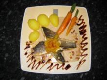 Loup de mer mit Mandelsauce - Rezept
