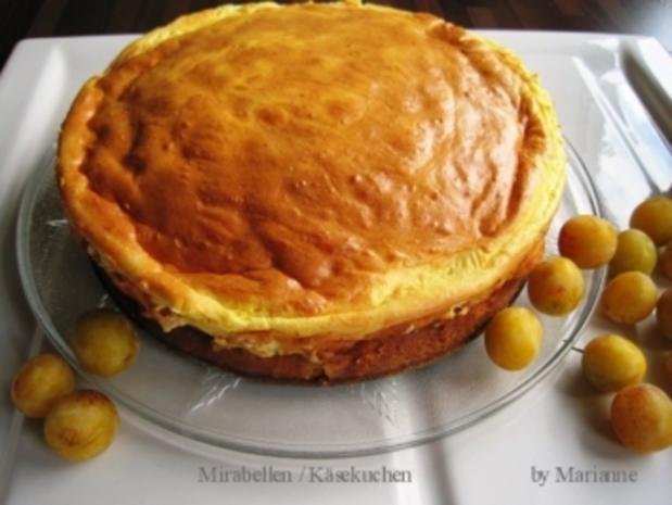 Mirabellen / Käsekuchen - Rezept