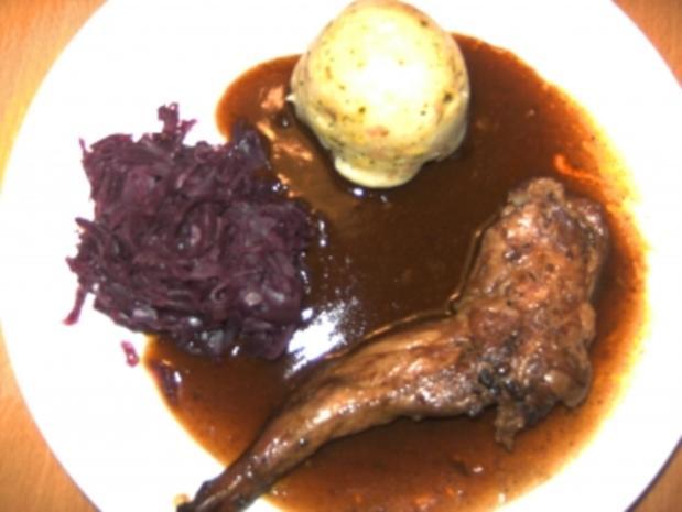 Geflügel/ Wild: Kaninchenbraten - Rezept
