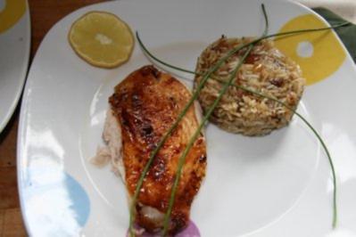 Huhn: Brathähnchen marokanischer Art - wie aus 1001 Nacht - Rezept