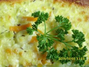 Herzhaftes Gebäck: Gemüsekuchen - Rezept
