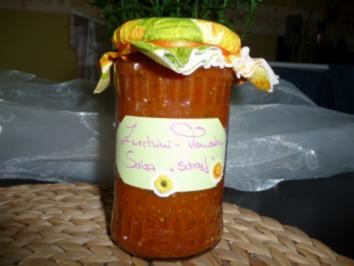 """Zucchini-Tomaten Salsa """"scharf"""" - Rezept"""