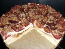 Pflaumen-Quark-Torte / Zwetschgen-Quark-Torte - Rezept