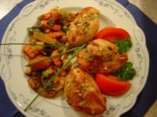 Putenmedallions mit Asia-Gemüse, einfach und schnell... - Rezept