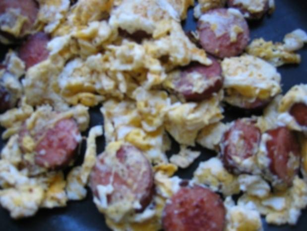 Cabanossi mit Eiern - Rezept