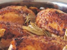 Huhn mit Aprikosenglasur - Rezept